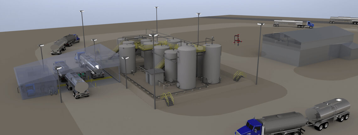 saltwater disposal well or recycling facility